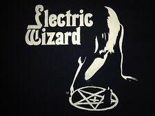 ELECTRIC WIZARD occulto BLACK MASS Nude Girl Pentagramma Vintage T-shirt DOOM METAL
