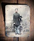 1st Wisconsin Heavy Artillery Civil War Soldier Camp Backdrop 1860 Tintype Photo