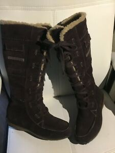 Timberland Women's Boots Brown suede Waterproof Tall size 8,5