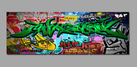 Graffiti Hip Hop Photo Print Painting Canvas Abstract Art Wall Decor Wood Framed