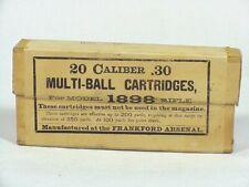 20 Caliber .30 Multiball Cartridges For Model 1898 Rifle