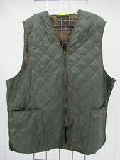 I8778 VTG Barbour Men's Plaid Lining Zip in Liner Waistcoat Size 50