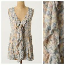 NWT Anthropologie Blue Laureate Ruffle Blouse Size 8