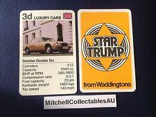 Waddington Star Trump 1978 Single card Luxury Cars Daimler Double 6