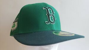 🔥OFFICIAL BOSTON RED SOX MLB NEW ERA GREEN CLOVER MENS FITTED 7 1/2 Hat NEW⚾️