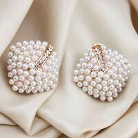 1 Paar Ohrstecker Ohrringe Doppelperlen Doppel Perle Perlen Ohrring