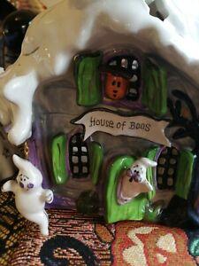 Halloween ceramic Blue sky heather goldminc House Of Boos