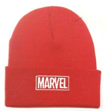 Cap Marvel Classic Embroidered White Logo Red Beanie Winter Hat Official