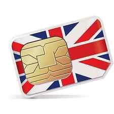 UK Prepaid & Preactivated SIM Card Call Text Data - Vacation, Holiday, Travel