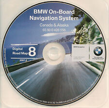 97 98 99 00 2001 BMW 740i 740iL 750iL NAVIGATION MAP NAV DISC CD 8 CANADA ALASKA