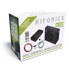 Hifonics tbp800.4 800 Watt basspack TRS-250 + Triton 4 Channel Amplifier