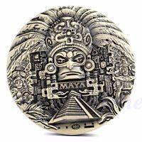 Mayan Aztec Calendar Prophecy Souvenir Token Art Souvenir Coin Collection Gift
