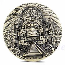 1x Mayan Aztec Calendar Souvenir Prophecy Commemorative Coin Art Collection Gift