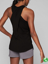 62241c8480 NEW ATHLETA WOMEN S BLACK SLEEVELESS ULTIMATE CROSS BACK TANK TOP Sz XS