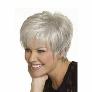 Fashion Ladies Wigs Women's Short No Lace Grey Natural Hair Wig For Women