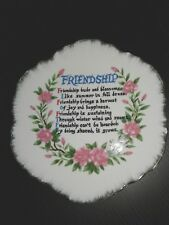 Designer Plate-Wall-Friendship-Flo ral-7inches-Porcelain-Kore a-Used