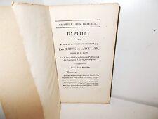 Rapport de M. Froc de La Boulaye Publication des Journaux et Ecrits périodiques