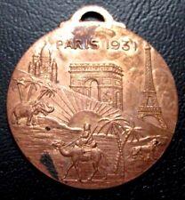 Paris 1931 / RARE / Medallion Medal / Diameter 28 mm / BRONZE MEDAL / N.118