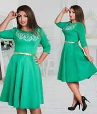 PLUS SIZE CASUAL/FORMAL DRESS with BELT