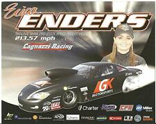 2012 ERICA ENDERS GK MOTORSPORTS CAGNAZZI RACING POSTCARD! 1ST VERSION!!