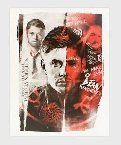 NiP Culturefly Fall 2019 Supernatural Sold Out LE Mini Art Print Poster