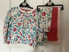 New Age 2-3 Years Girls TU Floral Frill Jumper And 3 Leggings Bundle Set BNWT