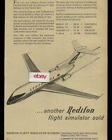 LUFTHANSA GERMAN AIRLINES BOEING 727-100 EUROPA JET & REDIFON SIMULATOR AD