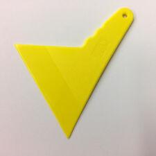 Esquina y borde amarillo herramienta de ventana de entintado de coche rasqueta Raspador