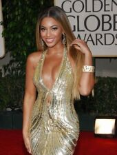 GLOSSY PHOTO PICTURE 8x10 Beyonce Sexy In Gold Costume