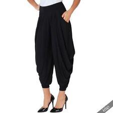 Harem Trousers Elastane High for Women