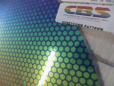 """Dichroic Glass:CBS 96 COE Honeycomb #1 Pattern on Flat Smooth Black -10 Pcs 3""""Sq"""