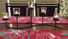 5-light Iron & Glass TABLETOP Tealight/TEA LIGHT Yankee Candle Holder NewInBox