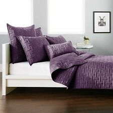 Dkny Crosstown 1 Euro Pillow Sham In Plum Quilted
