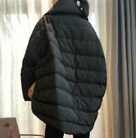 90% Damenmode Daune Gans Y-Ausschnitt Oversize Lagenlook Schnee Puffer Cape Warm