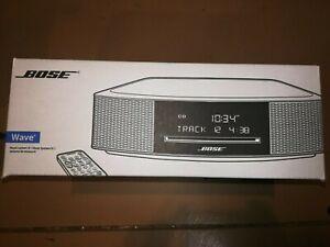 New Bose Wave IV Music System CD MP3 AM/FM Radio Tuner Espresso Black  or Silver