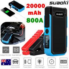 Suaoki 20000mAh Coche Arranque Arrancador de Emergencia Cargador Batería LCD NEU
