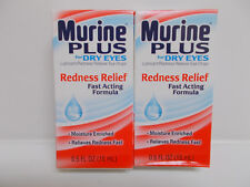2X Murine Plus For Dry Eyes Redness Relief Eye Drops Sealed Exp. 04/2020