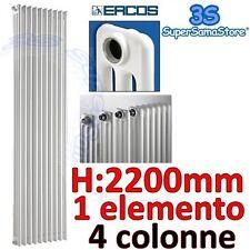 3S CALORIFERO TERMOSIFONE in  ACCIAIO 4 COLONNE H 2200 mm 1 ELEMENTO COMBY ERCOS