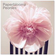 Paperbloomz Medium (25cm) Paper Peonies x 5 Tissue Paper Flower Wall Decorations
