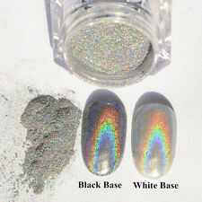 2g Holographic Laser Powder Nail Glitter Rainbow Chrome Pigments Decoration