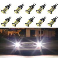 10 Pcs T15 W16W 24SMD LED 3030 921 912 Backup Car Reverse Back Light Bulbs White