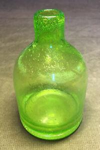 Antique Blown Glass Green Bottle
