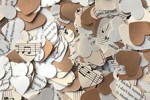 Rustic Heart Wedding Table Confetti/Decoration - Music/Kraft Paper/Romantic Book
