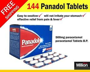 144 panadol tablets 500mg paracetamol tablets pain fever relief tooth pain