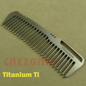 Titanium Ti Comb Unisex Outdoor EDC Hair Comb Health Care static-free Ti151