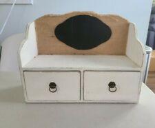 Vintage White Shabby Chic 2 Door Shelf 2 wood Cabinet nwot