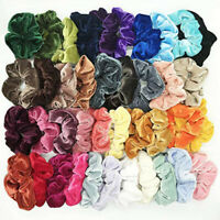 10-100 Pack Hair Scrunchies Velvet Scrunchy Bobbles Elastic Hair Bands Holder UK