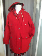 NEW Women's Woolrich RED Water/Oil Repellant Coat with a Hood- size M
