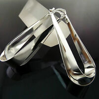 Earrings Real 925 Sterling Silver S/F Ladies Long Drop Classic Design