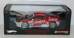 HOT WHEELS 1/18 - L7113 FERRARI F430 MODENA CARS RACING EURO CHAMPION 2006 #102